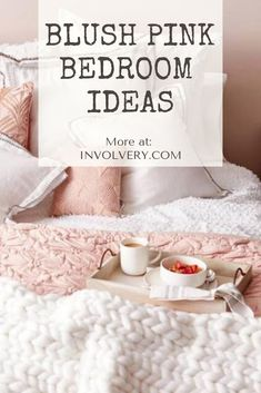 Blush Pink Bedroom Ideas Dusty Rose Bedroom Decor and Bedding I Love is part of - Redecorating My Bedroom In Dusty Rose Pink Colors Blush Bedroom Decor, Dusty Pink Bedroom, Pink Master Bedroom, Pink Bedroom Design, Rose Bedroom, Pink Bedrooms, Diy Home Decor Bedroom, Bedroom Ideas, Bedroom Inspo