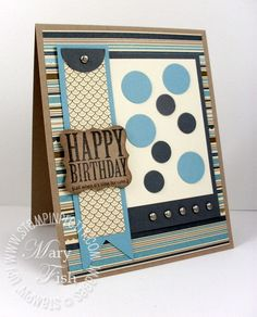 Masculine card by Mary Fish, Stampinpretty.com