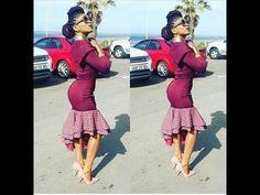 Strech with sishweshwe Ankara Styles For Women, African Dresses For Women, African Attire, African Wear, African Fashion Dresses, African Women, African Style, African Clothes, African Design