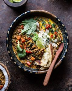 coconut quinoa and lentil curry