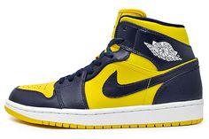 differently 339c1 494db AIR JORDAN 1 (MICHIGAN WOLVERINES) Michigan Jordan Shoes, Michigan Jordans,  Air Jordan