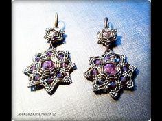 ▶ Tutorial come fare orecchini con perline, bugle beads earrings tutorial - YouTube
