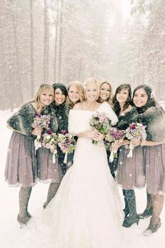 Faux Fur Wraps For A Winter Wonderland Wedding