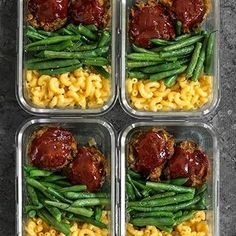 Turkey meatloaf/green beans/mac & cheese