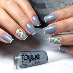 Korea Nail Art, Flower Nail Art, Manicure E Pedicure, Luxury Nails, Elegant Nails, Creative Nails, Simple Nails, Swag Nails, Nails Inspiration
