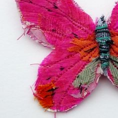 Abigail Brown of course! Just beautiful. textile butterfly