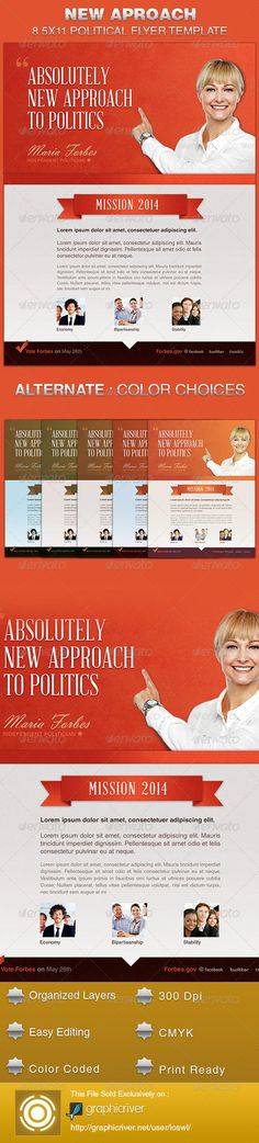 Political Campaign  Flyer  Ad Template Design  Political