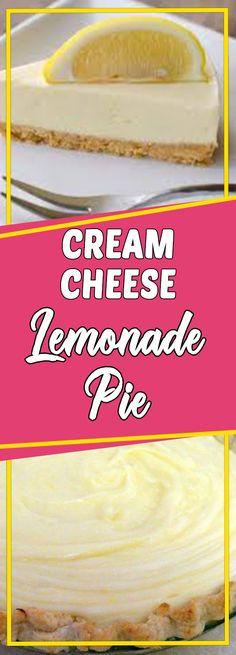 CREAM CHEESE LEMONADE PIE #dessert #cookinglight #sundaysupper #dessertrecipes #desserttable #appetizer