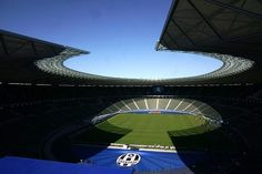 This picture taken on June 4, 2015 shows the Berlin's Olympic Stadium ahead of the UEFA Champions League final between Juventus Turin (Italy) and FC Barcelona (Spain) on June 6.