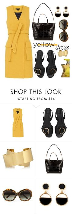 """In La La Land: Yellow Dresses"" by hamaly ❤ liked on Polyvore featuring Isabel Marant, Elizabeth and James, Linda Farrow, Warehouse, Bond No. 9, outfit, ootd, dresses and yellowdress"