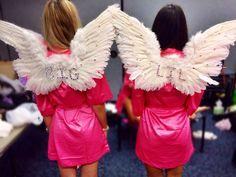 Being Victoria's Secret angels for big little reveal. TSM.