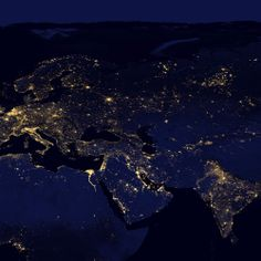 Earth at Night 2012 - Europe and Asia