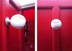( baseball door knobs )