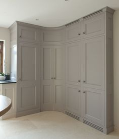 Kitchen with Corner Pantry Door | kitchen tall corner kitchen cabinet grey kitchens pantry door pantry ...