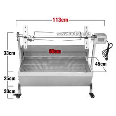 480.00$  Buy now - http://alieod.worldwells.pw/go.php?t=32731992988 - Free Shipping  Stainless Steel 60KG BBQ Grill Charcoal Pig Spit Roaster Rotisserie Barbeque 480.00$