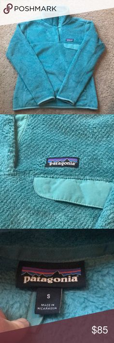 Like New Patagonia Pullover Patagonia Re-Tool Snap T Fleece Pullover women's size small in teal. This pullover is in excellent used condition and has only been worn a handful of times, no pilling, spots, holes, or stains. Patagonia Other