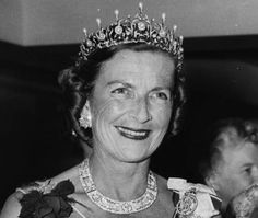 Edwina Countess Mountbatten of Burma wearing a beautiful tiara