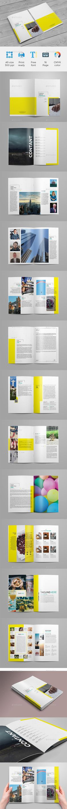 Daleman Project Portfolio Brochure template, Brochures and Template