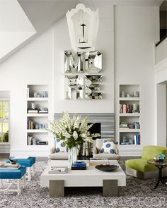 The living room of a Bridgehampton, New York, home designed by Timothy Haynes and Kevin Roberts.