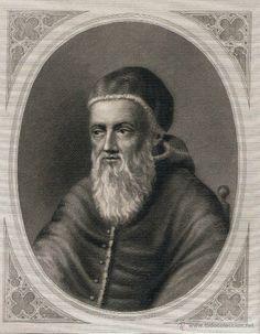 GRABADO ENGRAVING GRAVURE - Papa / Pope Julio II