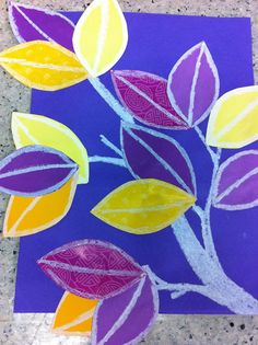 Compliment color leaves;   Drip, Drip, Splatter Splash