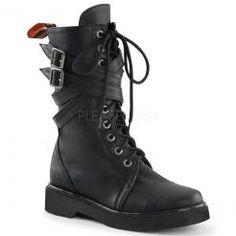 Cross+Buckle+Combat+Boots
