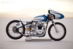 Triumph 6T Thunderbird Salt Racer by The Baron's Speed Shop