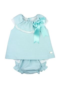 Eve Children SS16. Striped bow-embellished top and matched bloomer