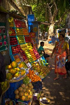Okay, it's an Indian market in Mumbai.  It looks just like what we saw in Kenya.