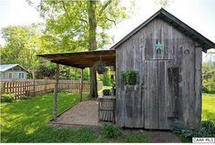 Garden Shed With Porch Gazebo 37 Super Ideas Rustic Shed, Rustic Backyard, Shed Conversion Ideas, Porch Gazebo, Pergola Garden, Shed With Porch, Home And Garden Store, Old Barn Wood, Weathered Wood