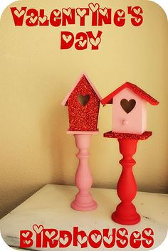 I just saw birdhouses at the dollar store. This would be easy-peasy!
