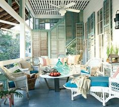 Beach Bliss with a Blue Porch Floor – Beach Bliss Living - Decorating and Lifestyle Blog