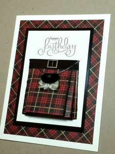 Scotchman's 2013 BD Kilt by rdm - Cards and Paper Crafts at Splitcoaststampers