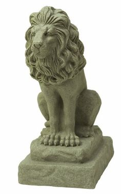 Outdoor Décor-EMSCO Group Guardian Lion Statue  Natural Sandstone Appearance  Made of Resin  Lightweight  28 Height ** Check out this great product.
