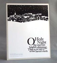 Church Christmas in Black & White