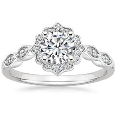 OBSESSED 18K White Gold Cadenza Halo Diamond Ring from Brilliant Earth