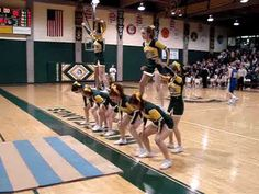 cheerleading stunting Cheer Stunts: Starting Line up I like the twisting also has cute suggested videos Cheerleading Quotes, School Cheerleading, Cheerleading Stunting, Cheer Routines, Cheer Workouts, Cheer Coaches, Cheer Mom, Cool Cheer Stunts, Cheer Pyramids