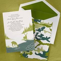 Nature Themed Wedding Invitations Nature 39 S Bounty Invitation For Our Camo Couples The