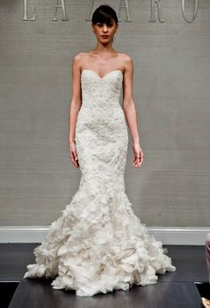 Timeless Wedding Dresses. To see more: http://www.modwedding.com/2014/04/27/timeless-wedding-dresses/  #wedding #weddings #fashion Wedding Dress: Lazaro