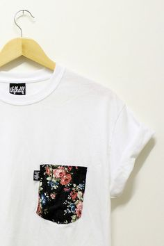 cute way to spruce up a white tee, and possibly recycle an old floral shirt at the same time!