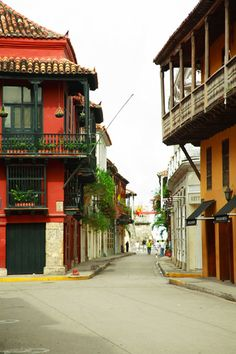 Santo Domingo Street, as Seen from the Plaza, Cartagena, Colombia