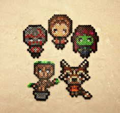 Guardians of the Galaxy Chibi Perler Bead by SuperOnigiriDesigns