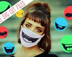 30 MOUTHS FACE MASK svg patterns face mask pattern bundle | Etsy Cute Faces, Funny Faces, Silhouette Studio, Silhouette Cameo, Emoji Svg, Funny Mouth, Cartoon Mouths, Skull Face Mask, Funny Face Mask