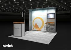 Nimlok creates trade show booths and custom display solutions. For Reeher we showcased their brand with a custom 10x10' trade show booth.