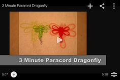 Para cord dragonfly instructions https://m.youtube.com/watch?feature=youtu.be&v=w7BD0BTEQcE