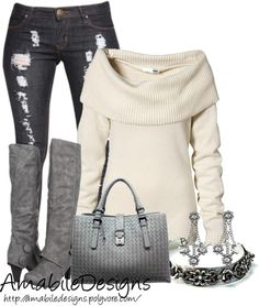 """Cozy Sweater"" by amabiledesigns on Polyvore"