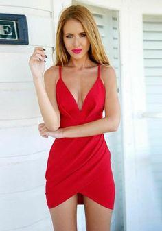 Type :Slim Material :Dacron Color :Red Decoration :Condole Belt, Irregular Pattern :Plain Collar :Collarless Length Style :Above Knee Sleeve Length :Sleeveless