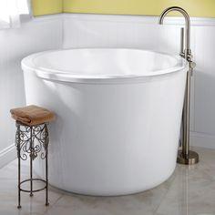 """47"""" Caruso Round Acrylic Japanese Soaking Tub - Japanese Soaking Tubs - Bathtubs - Bathroom"""