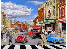 Take Care Of Your Car And Make It Last. Photo by Rob Ellis' When handling auto repairs, you may feel overwhelmed and lost. If this is your case, you need to learn more about auto repairs. Norman Rockwell, Grandma Moses, Bmw Isetta, Nostalgic Art, Cartoon Art Styles, Puzzle Art, The Good Old Days, Travel Posters, Painting & Drawing