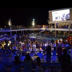 Carnival Triumph Deck Party at night:)
